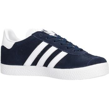 Zapatos Niño Zapatillas bajas adidas Originals - Sneaker da Bambino Blu in Pelle BY9162