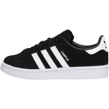 Zapatos Niño Zapatillas bajas adidas Originals - Sneaker da Bambino Nero in Pelle BY9594