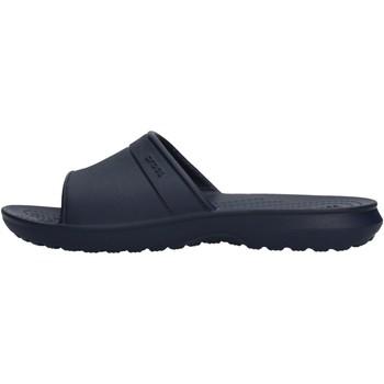 Zapatos Niño Zapatos para el agua Crocs - Classic slide k blu 204981 BLU