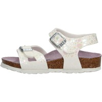Zapatos Niña Sandalias Birkenstock - Rio metallic bianco 1008197 BIANCO