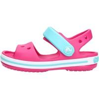 Zapatos Niña Sandalias Crocs - Crocband sand k fuxia/azzurro 12856-6LH FUXIA