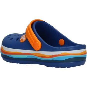 Zapatos Niño Zuecos (Clogs) Crocs - Crocband wavy azz/arancio 205697 BLU