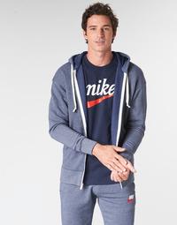 textil Hombre sudaderas Nike M NSW HERITAGE HOODIE FZ Marino