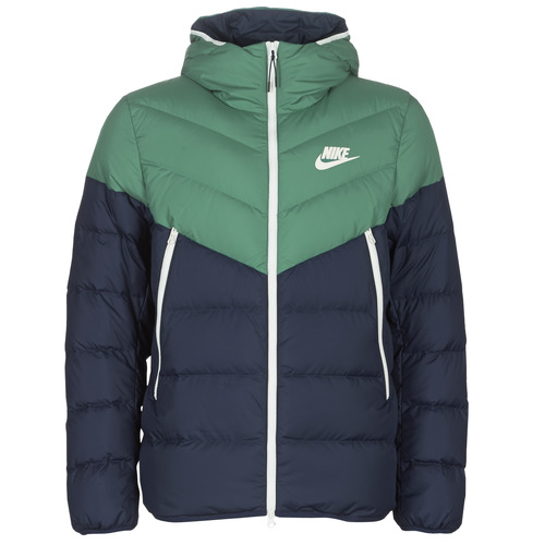 Nike M NSW DWN FILL WR JKT HD Marino / Verde - Envío gratis | ! - textil plumas Hombre