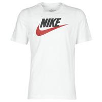 textil Hombre camisetas manga corta Nike M NSW TEE ICON FUTURA Blanco