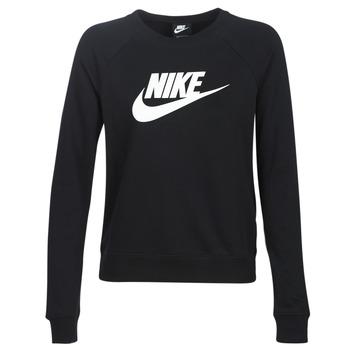 textil Mujer Sudaderas Nike W NSW ESSNTL CREW FLC HBR Negro