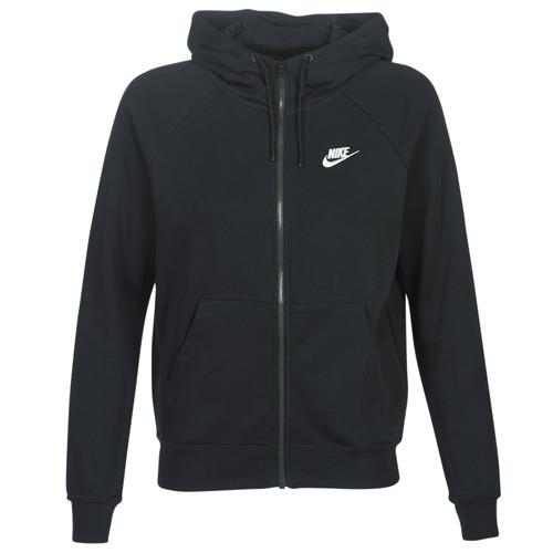 Nike W NSW ESSNTL HOODIE FZ FLC Negro - Envío gratis | ! - textil sudaderas Mujer