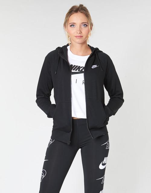 textil Mujer Sudaderas Nike W NSW ESSNTL HOODIE FZ FLC Negro