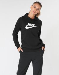 textil Mujer sudaderas Nike W NSW ESSNTL HOODIE PO  HBR Negro