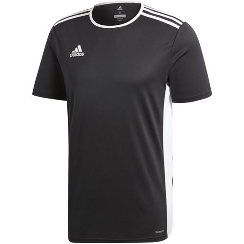 textil Niño camisetas manga corta adidas Originals Entrada 18 t-shirt nera in poliestere da ragazzo CF1035 NERO