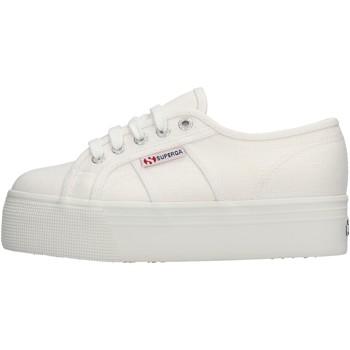 Zapatos Mujer Zapatillas bajas Superga 2790 900 Linw scarpe sneaker bianco in tela da donna BIANCO