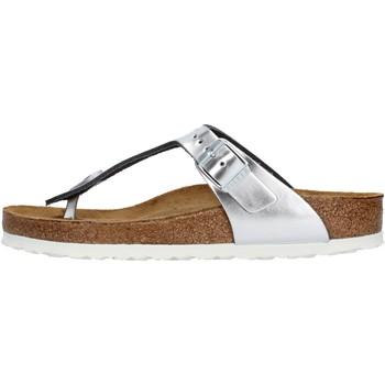 Zapatos Mujer Chanclas Birkenstock - Gizeh argento 1003674 ARGENTO
