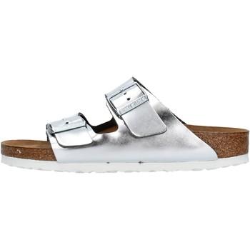 Zapatos Mujer Zuecos (Mules) Birkenstock - Arizona argento 1005961 ARGENTO
