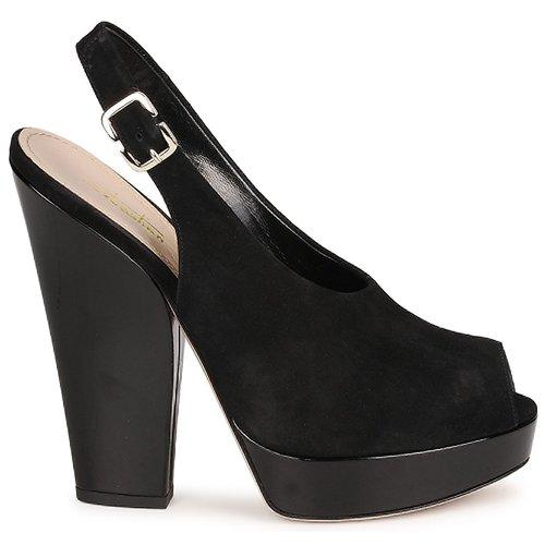 Sandalias Sebastian Mujer Negro Zapatos Camoscio 3FTlJucK1