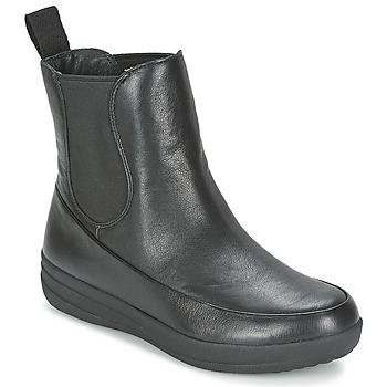 Zapatos Mujer Botas de caña baja FitFlop FF-LUX CHELSEA BOOT Negro
