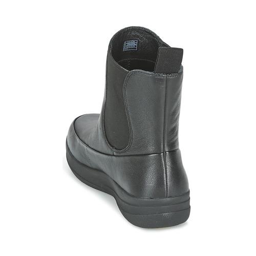 Los últimos zapatos de descuento para hombres y mujeres Zapatos especiales FitFlop FF-LUX CHELSEA BOOT Negro