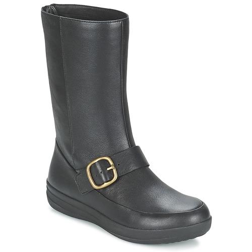 Zapatos Mujer Botas de caña baja FitFlop FF-LUX BIKER Negro