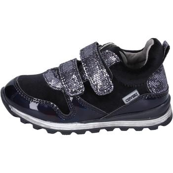 Zapatos Niña Zapatillas bajas Enrico Coveri sneakers velluto cuero sintético negro