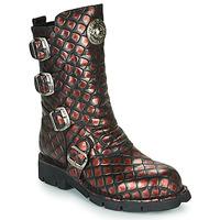 Zapatos Mujer Botas de caña baja New Rock  Negro / Rojo
