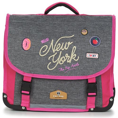 Rentrée des classes POL FOX NEW YORK CARTABLE 38 CM Gris / Rosa - Envío gratis | ! - Bolsos Cartable Nino