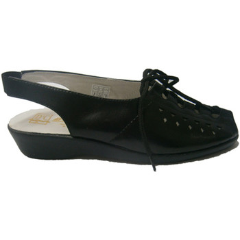 Zapatos Mujer Sandalias Doctor Cutillas Sandalia de cordones negro