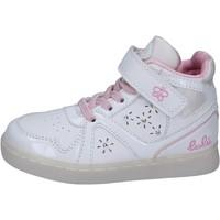 Zapatos Niña Zapatillas altas Lulu sneakers cuero sintético charol blanco