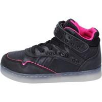 Zapatos Niña Zapatillas altas Lulu sneakers cuero sintético textil negro