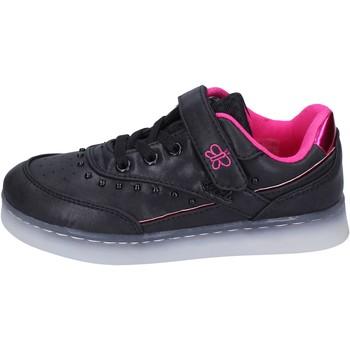Zapatos Niña Zapatillas bajas Lulu sneakers cuero sintético textil negro
