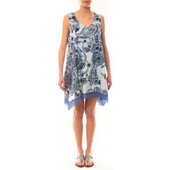 textil Mujer Vestidos cortos Palme Robe Tasmanie 49496 Bleu Azul