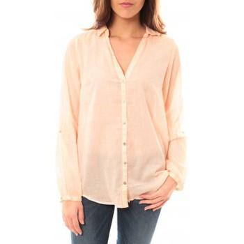textil Mujer Camisetas manga larga Palme Chemise Courte Rose clair 50597 Rosa