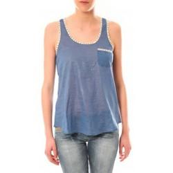 textil Mujer Camisetas sin mangas Lara Ethnics Débardeur Ambre Bleu Azul