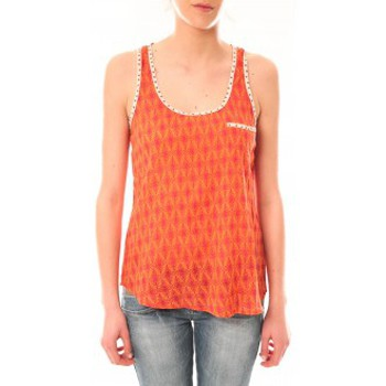 textil Mujer Camisetas sin mangas Lara Ethnics Débardeur Ambre Orange Naranja