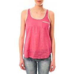 textil Mujer Camisetas sin mangas Lara Ethnics Débardeur Ambre Rose Rosa