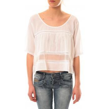 textil Mujer Camisetas manga corta Lara Ethnics Top Wendy Blanc Blanco