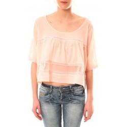 textil Mujer Camisetas manga corta Lara Ethnics Top Wendy Violet Rosa