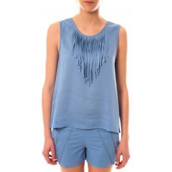 textil Mujer Camisetas sin mangas Lara Ethnics Débardeur Maelys Bleu Azul
