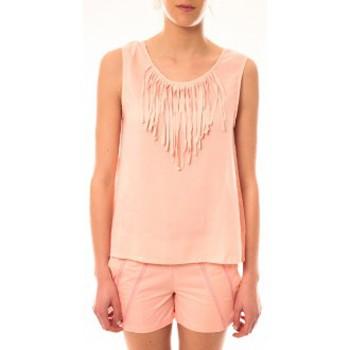 textil Mujer Camisetas sin mangas Lara Ethnics Débardeur Maelys Rose Rosa