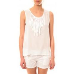textil Mujer Camisetas sin mangas Lara Ethnics Débardeur Maelys Blanc Blanco
