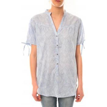 textil Mujer Camisetas manga corta Lara Ethnics Tunique Morgane Bleu Azul