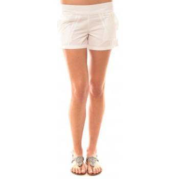 textil Mujer Shorts / Bermudas Lara Ethnics Short Lola Blanc Blanco