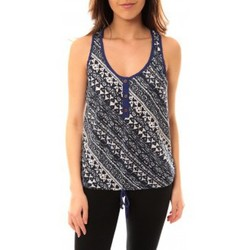 textil Mujer Camisetas sin mangas Lara Ethnics Débardeur Dakota Bleu Azul