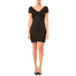 textil Mujer Vestidos cortos Vera & Lucy Robe Lucce LC-0312 Noir Negro