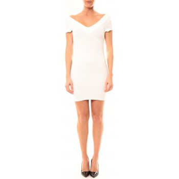 textil Mujer Vestidos cortos Vera & Lucy Robe Lucce LC-0312 Blanc Blanco