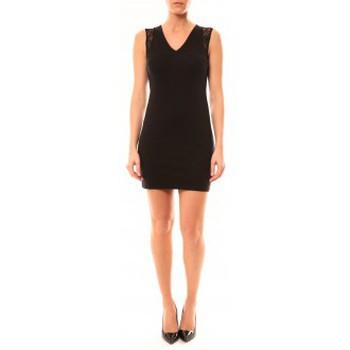 textil Mujer Vestidos cortos Vera & Lucy Robe Enzoria 9252 Noir Negro