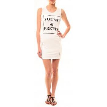 textil Mujer Vestidos cortos Vera & Lucy Robe Young MC1577 Blanc Blanco