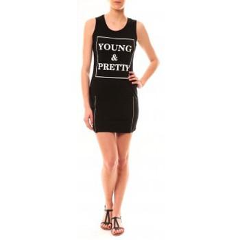 textil Mujer Vestidos cortos Vera & Lucy Robe Young MC1577 Noir Negro