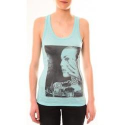 textil Mujer Camisetas sin mangas By La Vitrine Débardeur D2709 Vert Verde