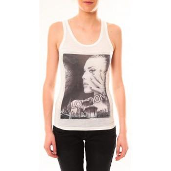 textil Mujer Camisetas sin mangas By La Vitrine Débardeur D2709 Blanc Blanco
