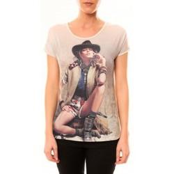 textil Mujer Camisetas manga corta By La Vitrine Top Cowboy 1103 Beige Beige
