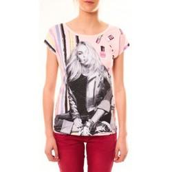 textil Mujer Camisetas manga corta By La Vitrine Top Clara 1104 Beige Beige
